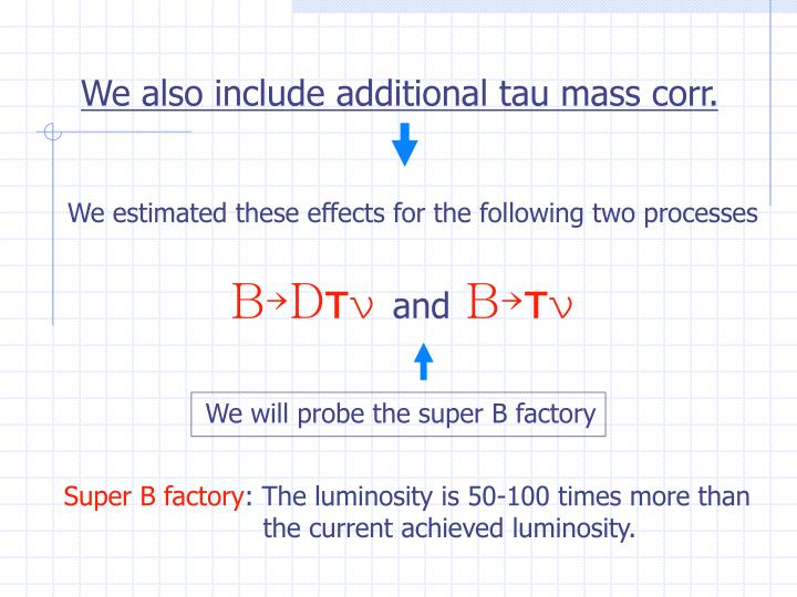 We will probe the super B factory