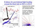 evidence for gravitational light bending around the black hole in mcg 6 30 15