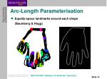 arc length parameterisation