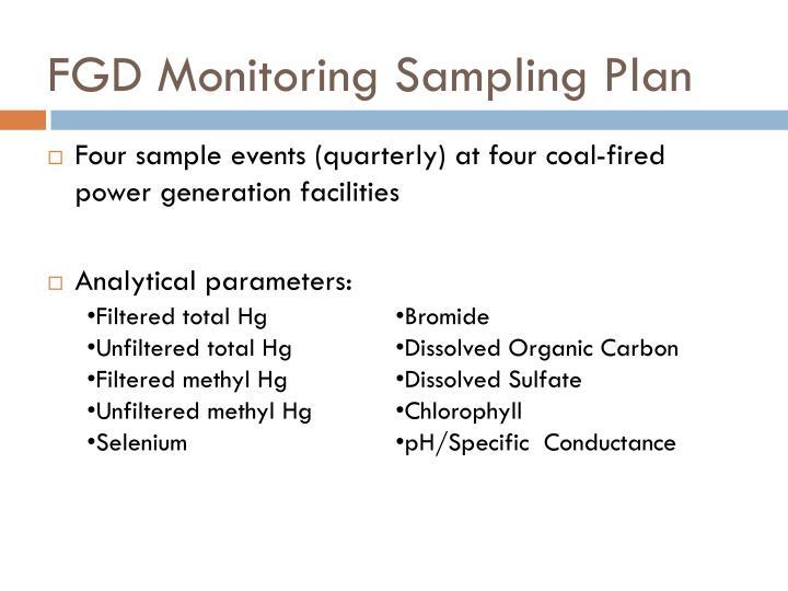 FGD Monitoring Sampling Plan