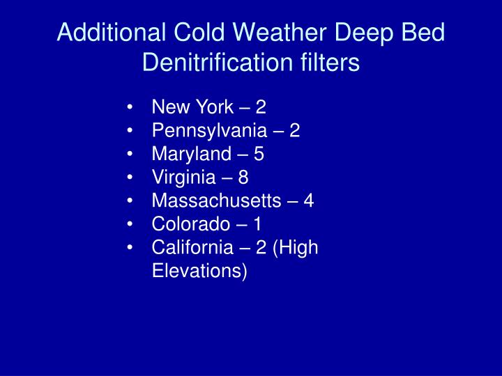 Additional Cold Weather Deep Bed