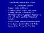 deep bed denitrification filter underdrain system