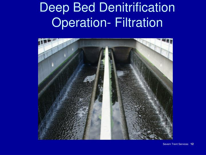 Deep Bed Denitrification Operation- Filtration
