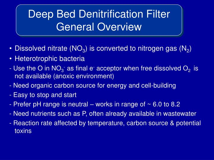 Deep Bed Denitrification Filter General Overview