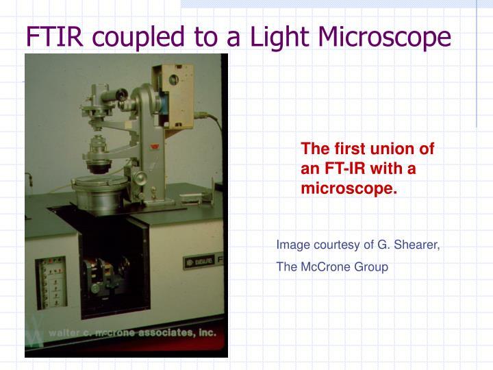 FTIR coupled to a Light Microscope