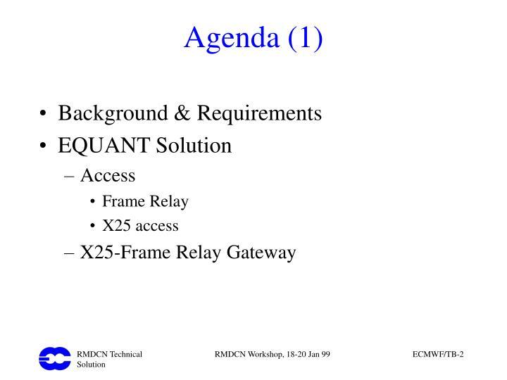 Agenda (1)