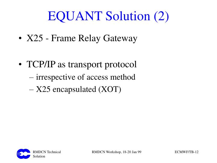 EQUANT Solution (2)