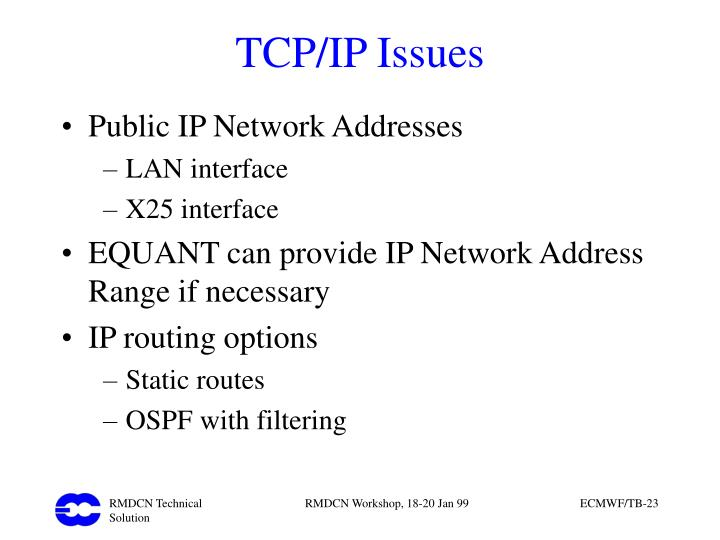 TCP/IP Issues