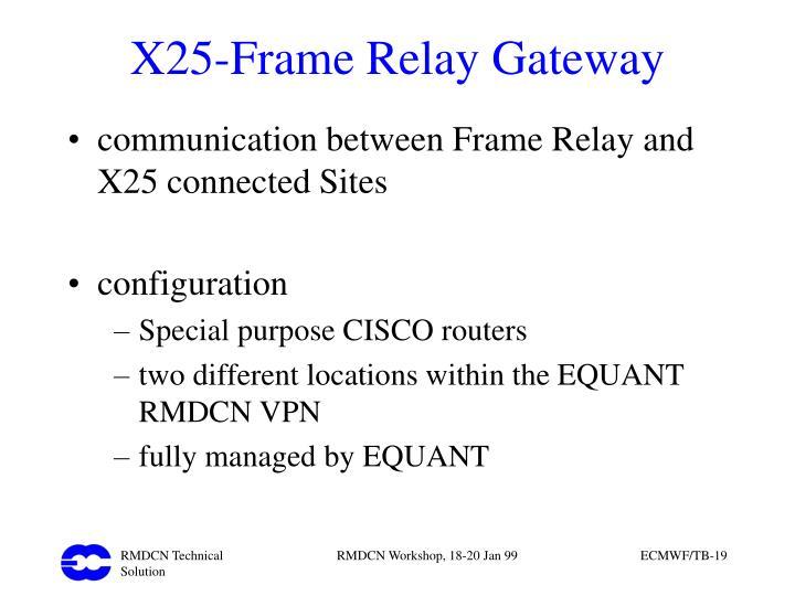 X25-Frame Relay Gateway