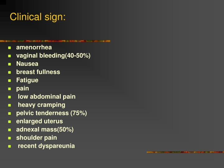 Clinical sign:
