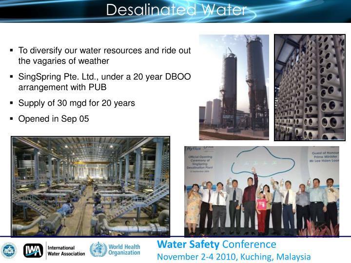 Desalinated Water