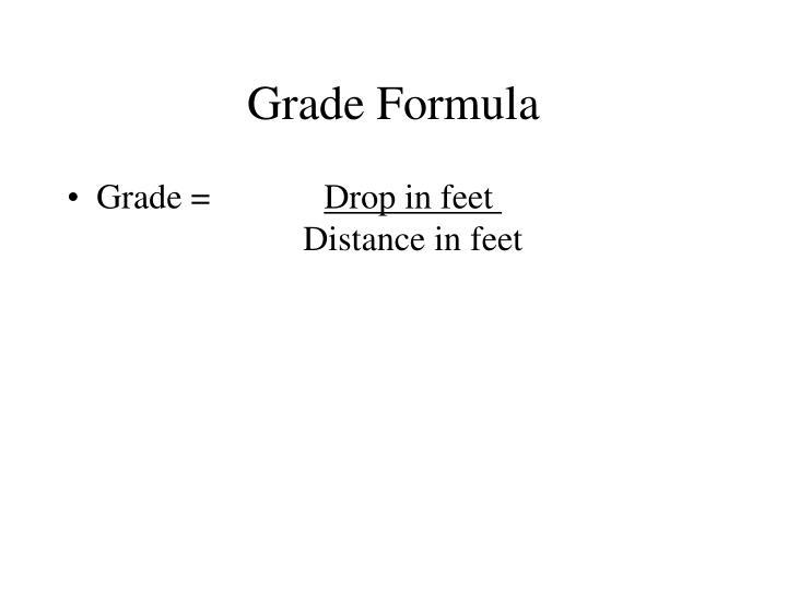 Grade Formula