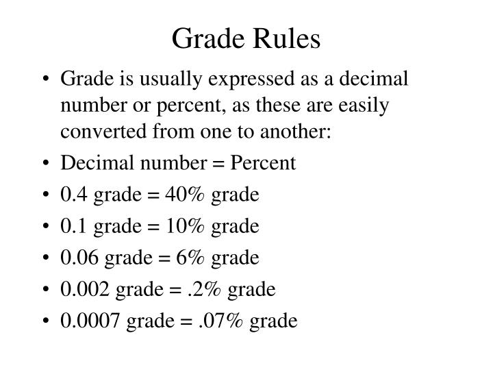 Grade Rules
