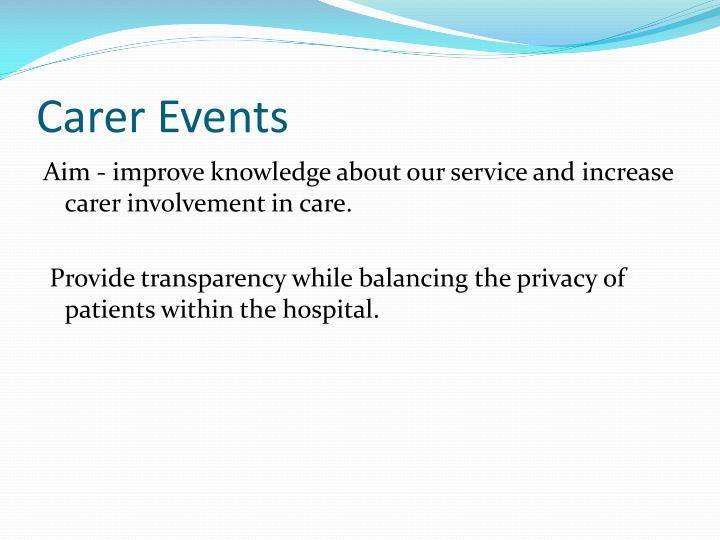 Carer Events