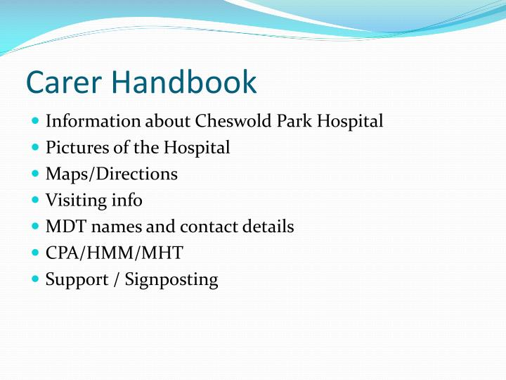 Carer Handbook