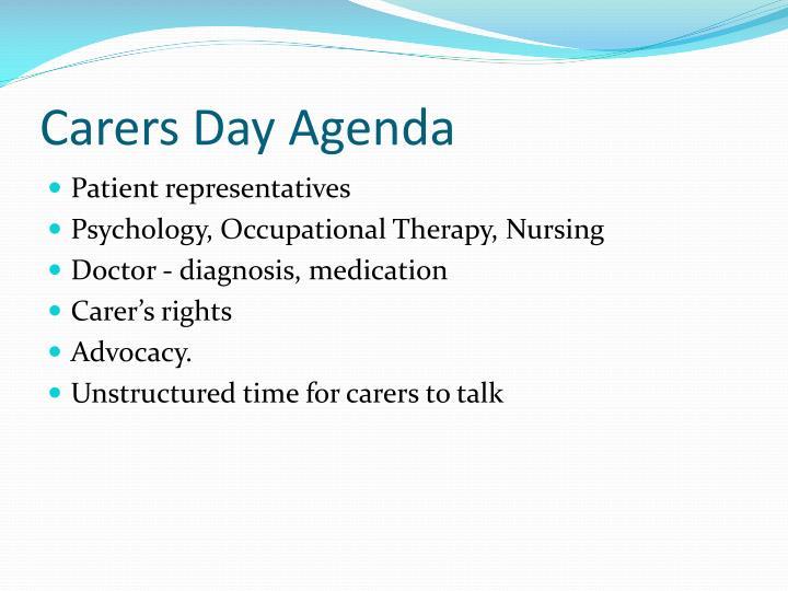 Carers Day Agenda
