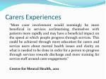 carers experiences
