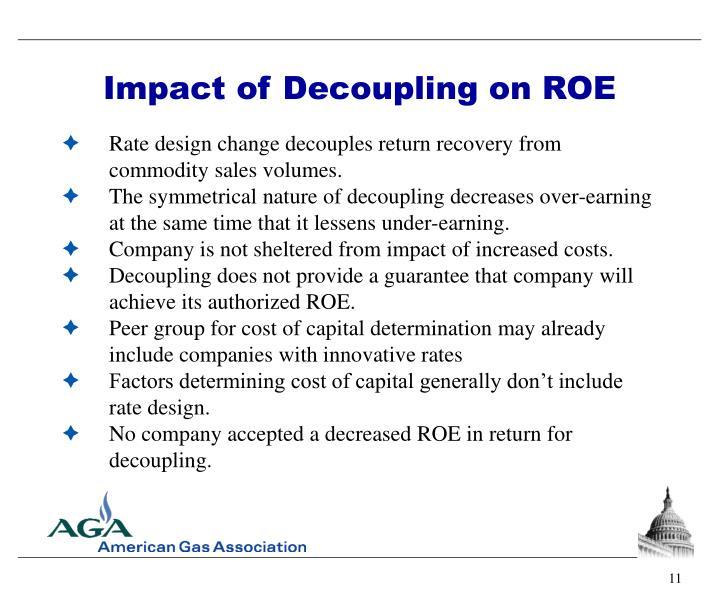Impact of Decoupling on ROE