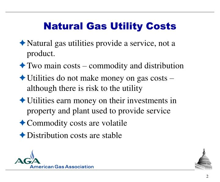 Natural Gas Utility Costs