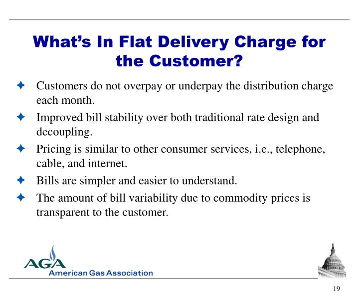 What's In Flat Delivery Charge for the Customer?