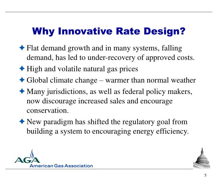 Why Innovative Rate Design?