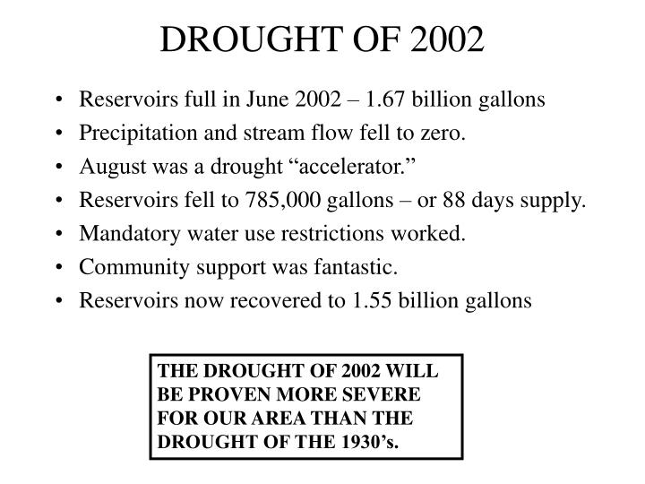DROUGHT OF 2002