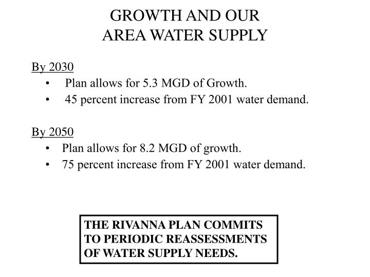GROWTH AND OUR