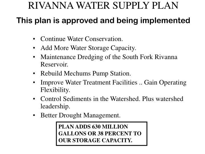 RIVANNA WATER SUPPLY PLAN