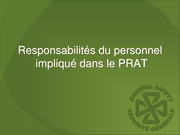 Responsabilités du personnel