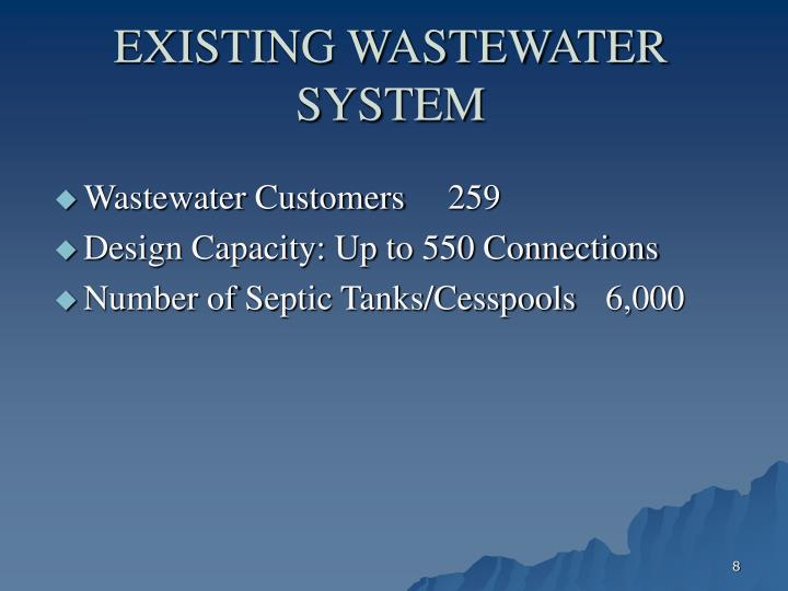 EXISTING WASTEWATER