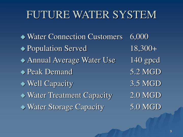FUTURE WATER SYSTEM
