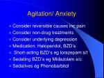 agitation anxiety