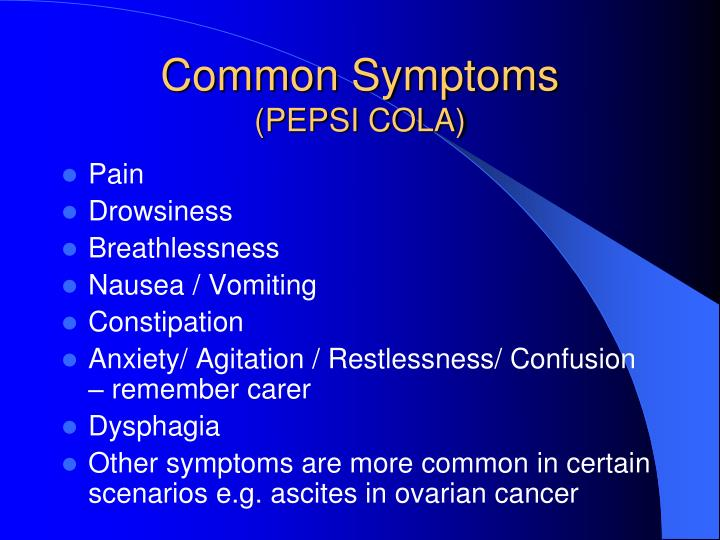 Common Symptoms
