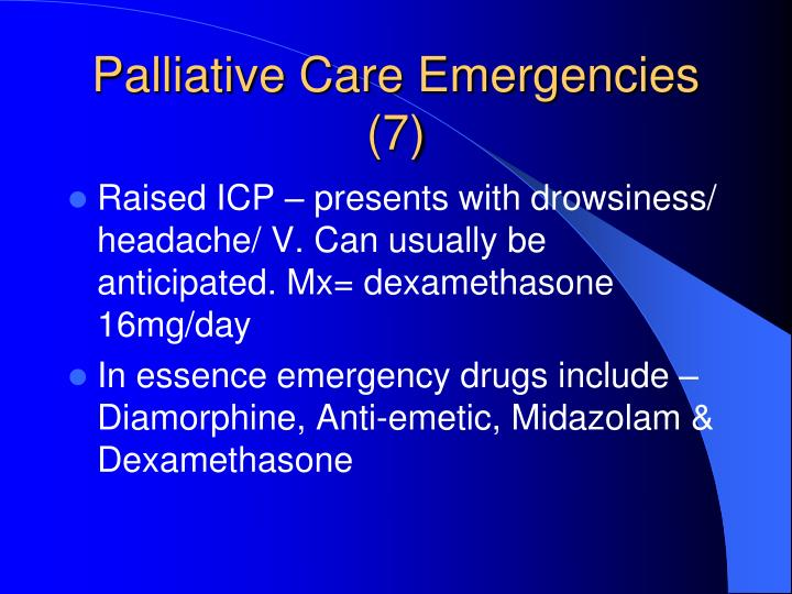 Palliative Care Emergencies