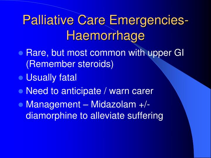 Palliative Care Emergencies-
