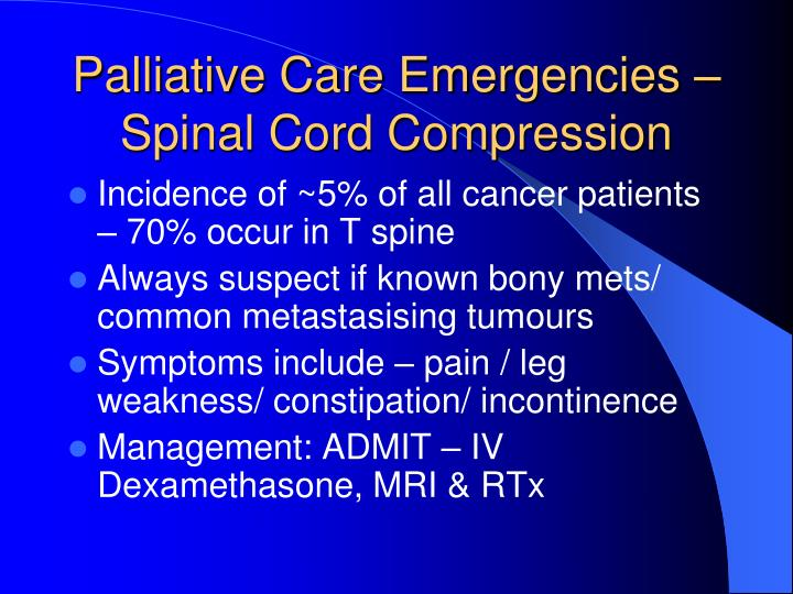 Palliative Care Emergencies –
