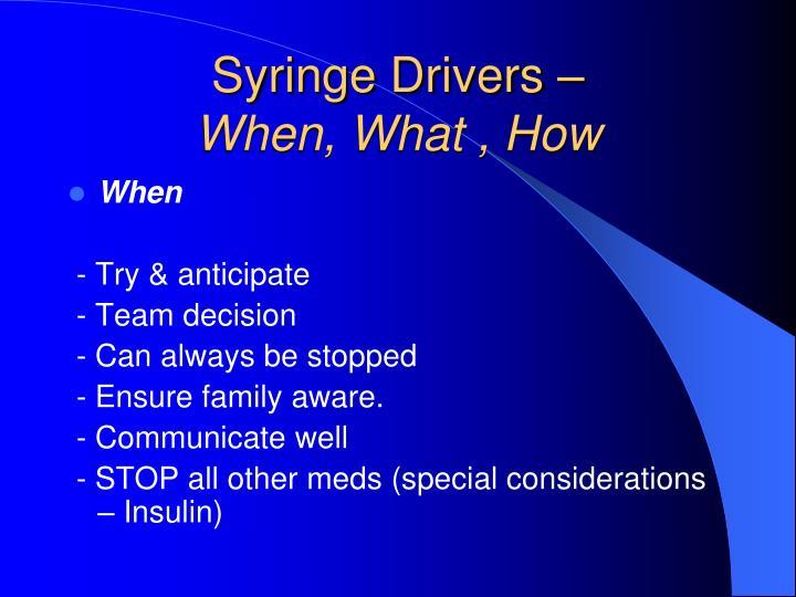 Syringe Drivers –
