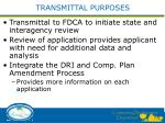 transmittal purposes