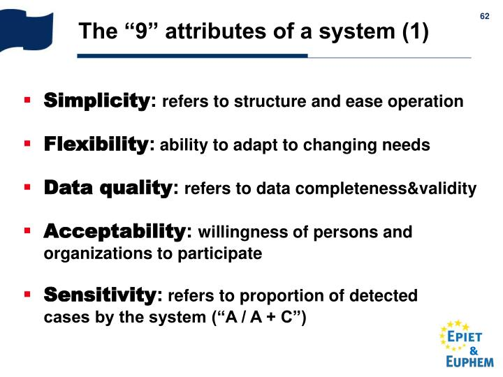 "The ""9"" attributes of a system (1)"