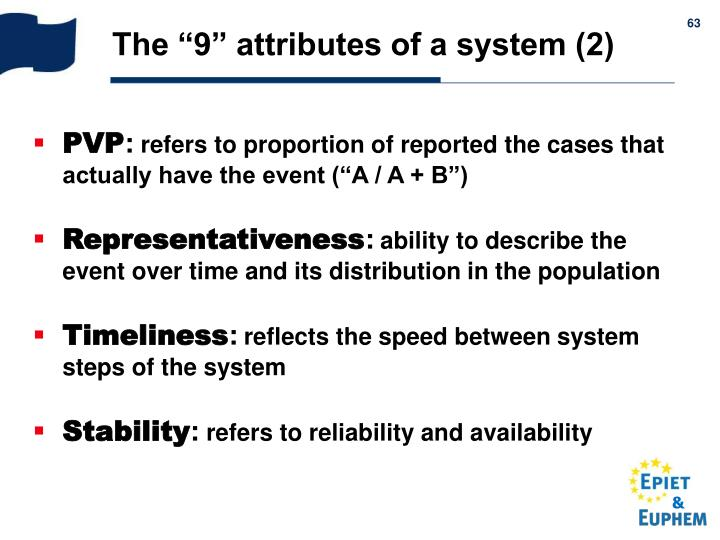 "The ""9"" attributes of a system (2)"