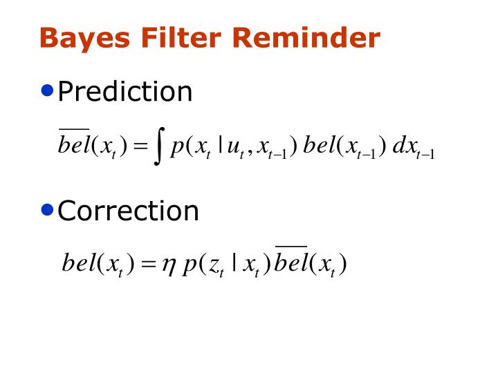 Bayes Filter Reminder