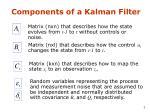 components of a kalman filter