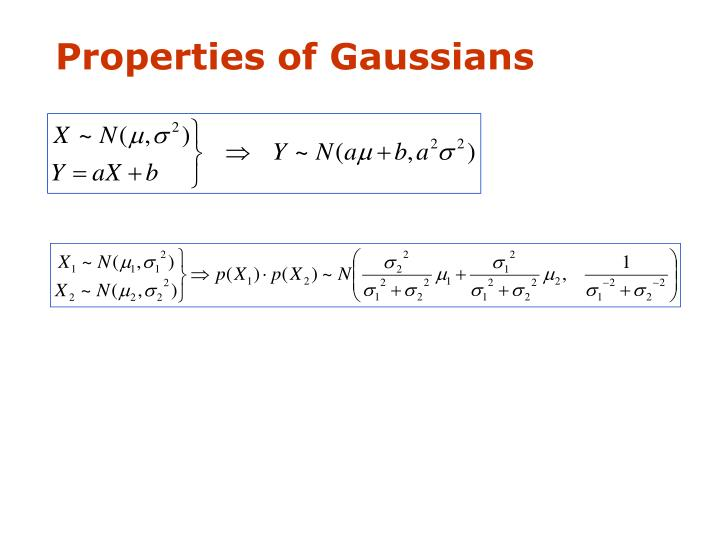 Properties of Gaussians