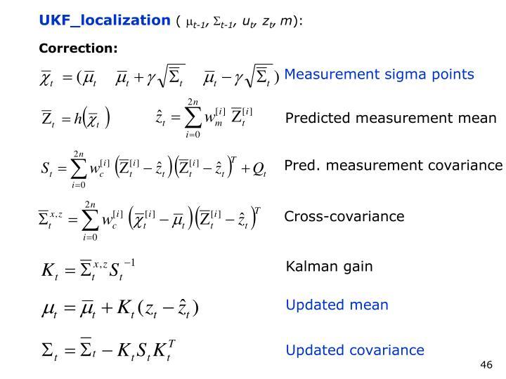 Measurement sigma points