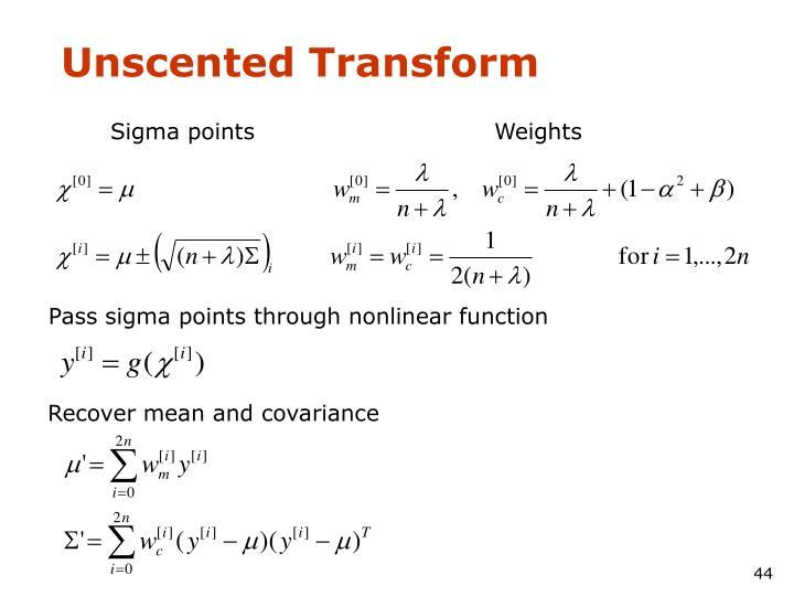 Unscented Transform