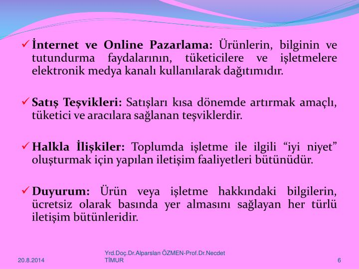 İnternet ve Online Pazarlama: