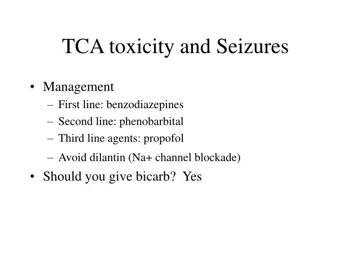 TCA toxicity and Seizures