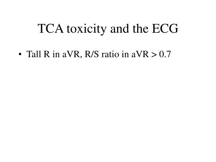 TCA toxicity and the ECG