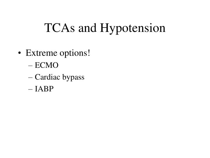 TCAs and Hypotension