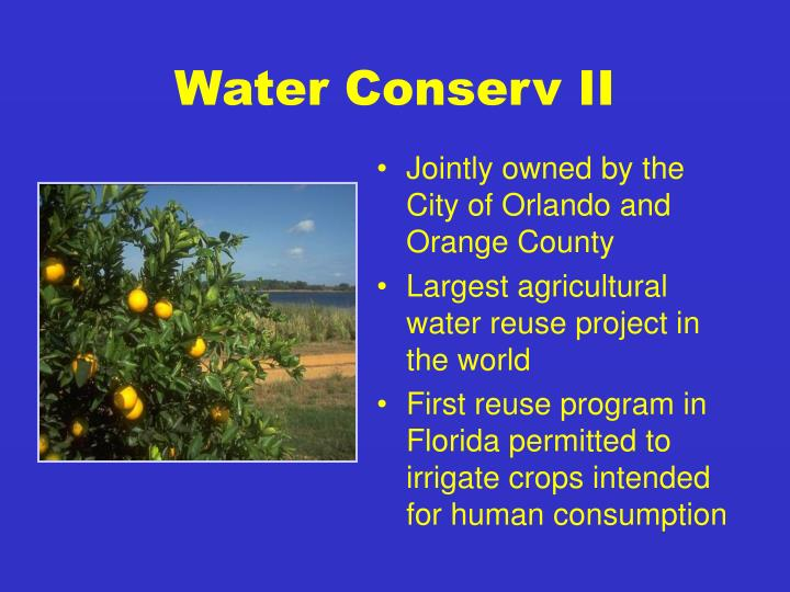 Water Conserv II